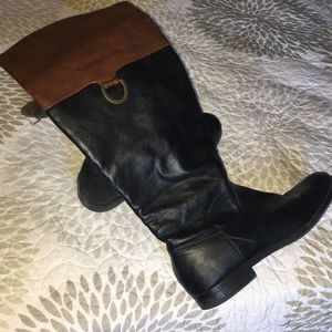 Shoes - Brown & Black tall boots